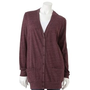 LIBERTY LOVE | Burgandy Cardigan